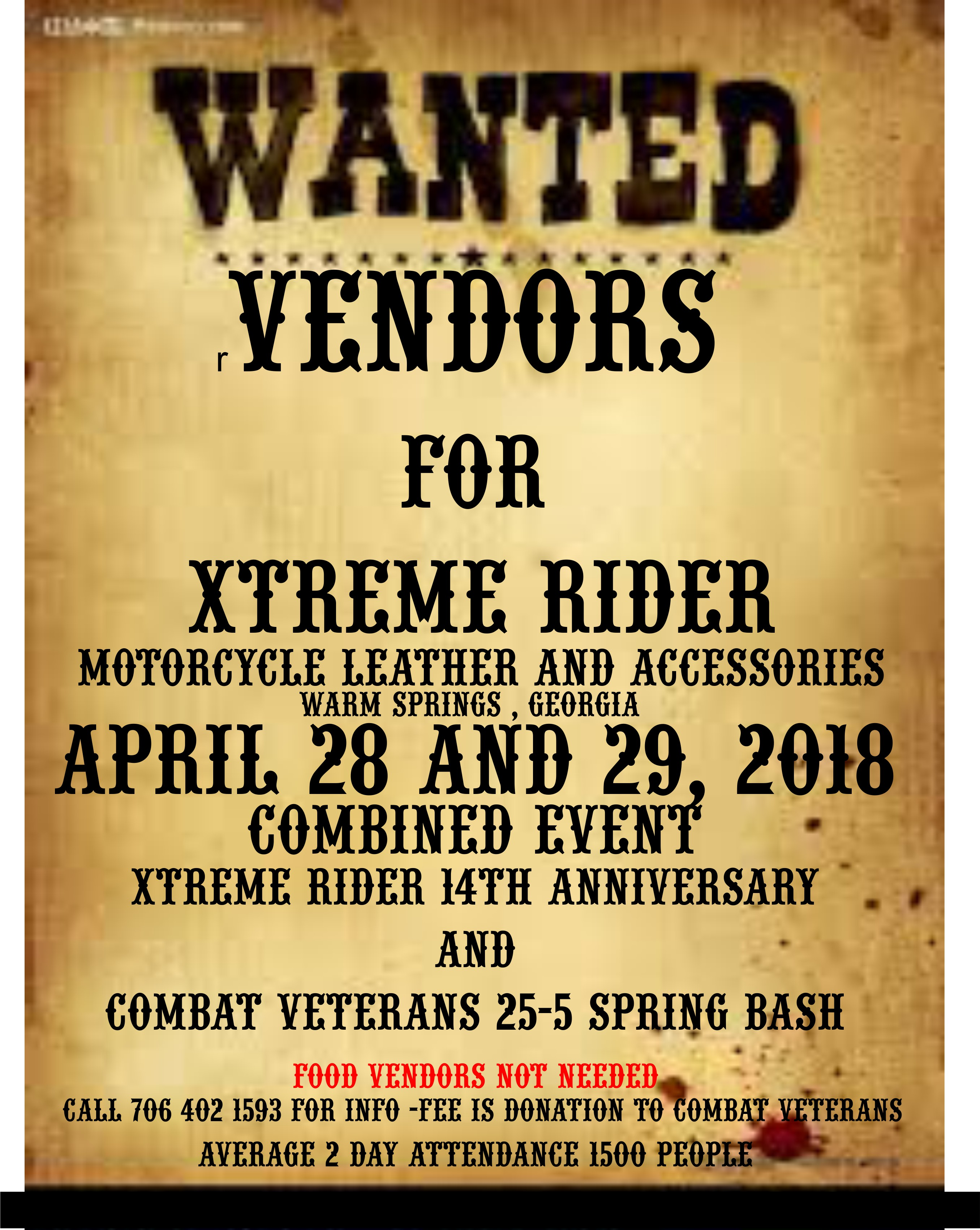 Wanted Vendors